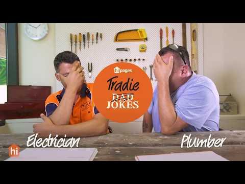 Dad jokes by tradies: Electrician vs. Plumber
