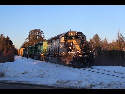 NBSR West Bound Entering Brownville, ME - 2/28/2015