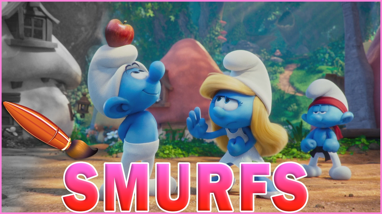 smurfs lost village with smurfette karate kids coloring book