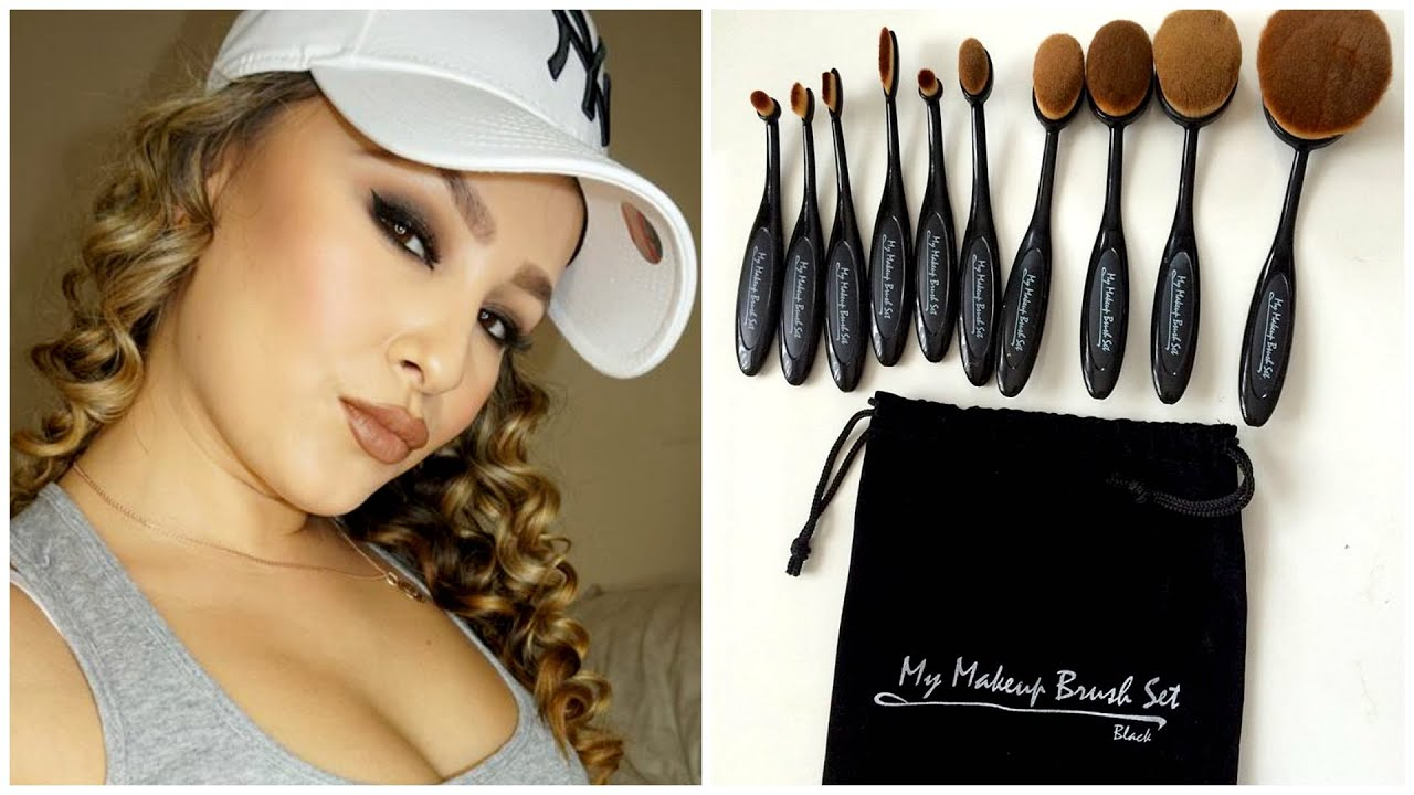My Makeup Brush Set First Impressions Demo Oval Brush Set Review