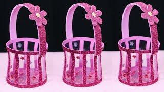 Waste Plastic Bottle Basket   Best Out of Waste   Plastic bottle craft idea
