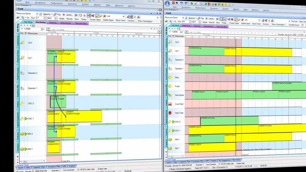 Multi-user manufacturing scheduling - YouTube