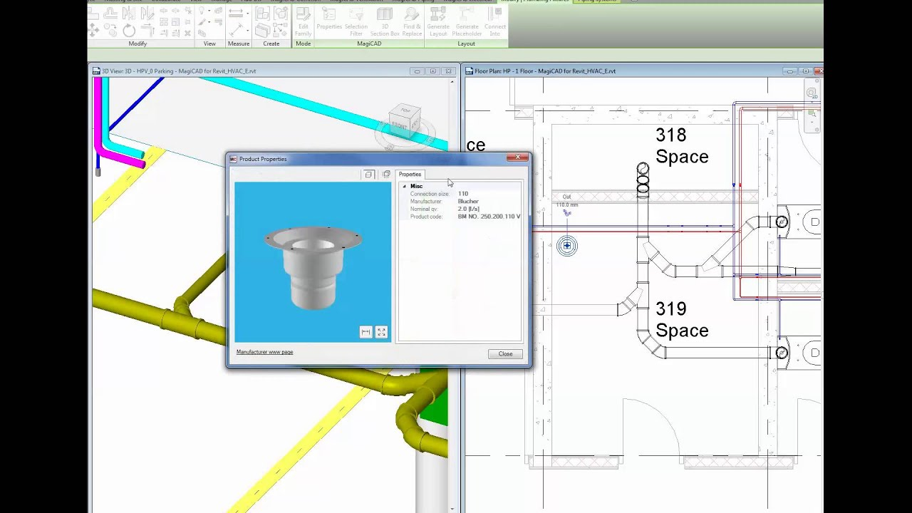 magicad 2015 4 for revit new connection tool for sewers and sanitary systems youtube [ 1920 x 1080 Pixel ]