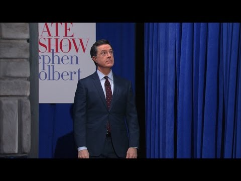 Stephen Colbert makes a Ben Carson entrance