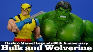 Hasbro Marvel Legends 80th Anniversary Wolverine and Hulk 6-In Action Figure US