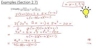 MCR3U/Grade 11 Functions: 2.7 (Examples)