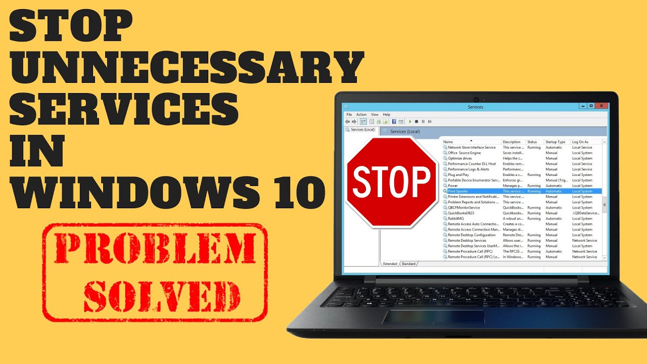 Stop Unnecessary Services In Windows 10