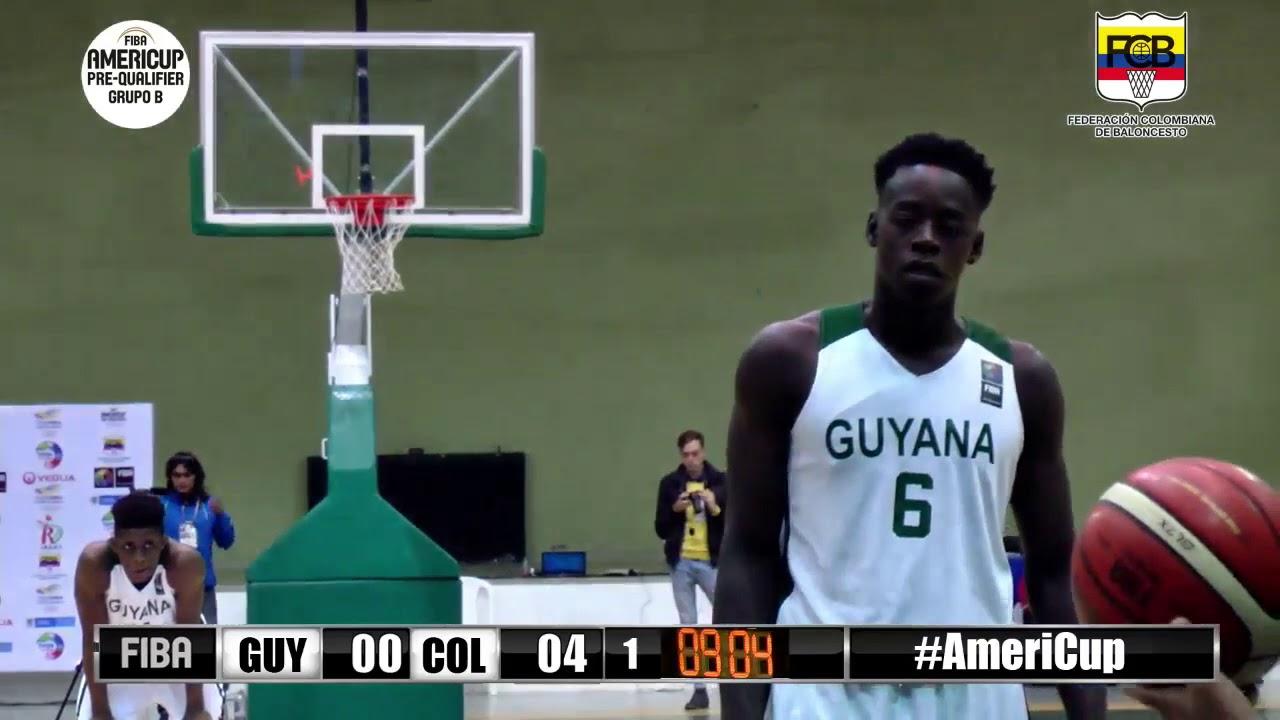 Baloncesto Americup Colombia vs Guyana 2019