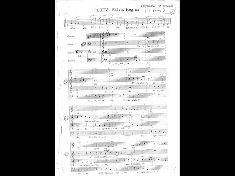 Cristobal de Morales - Salve Regina a 4 voci