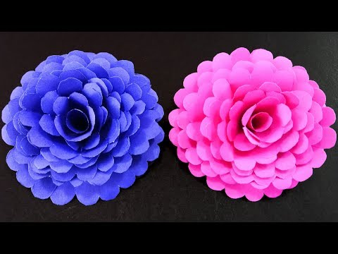 How to Make Easy and Simple Paper Flower : DIY Paper Crafts