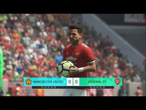 Manchester United Vs Arsenal I Debut For Alexis Sanchez And Mkhitaryan I PES 2018 Penalty Shootout