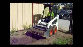 Bobcat Hire Brisbane for Builders, Landscapers, DIY from City Hire S70 Bobcat.wmv