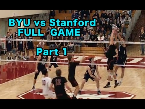 BYU vs Stanford (FULL GAME) Men's Volleyball PART 1/2 - 2/24/17