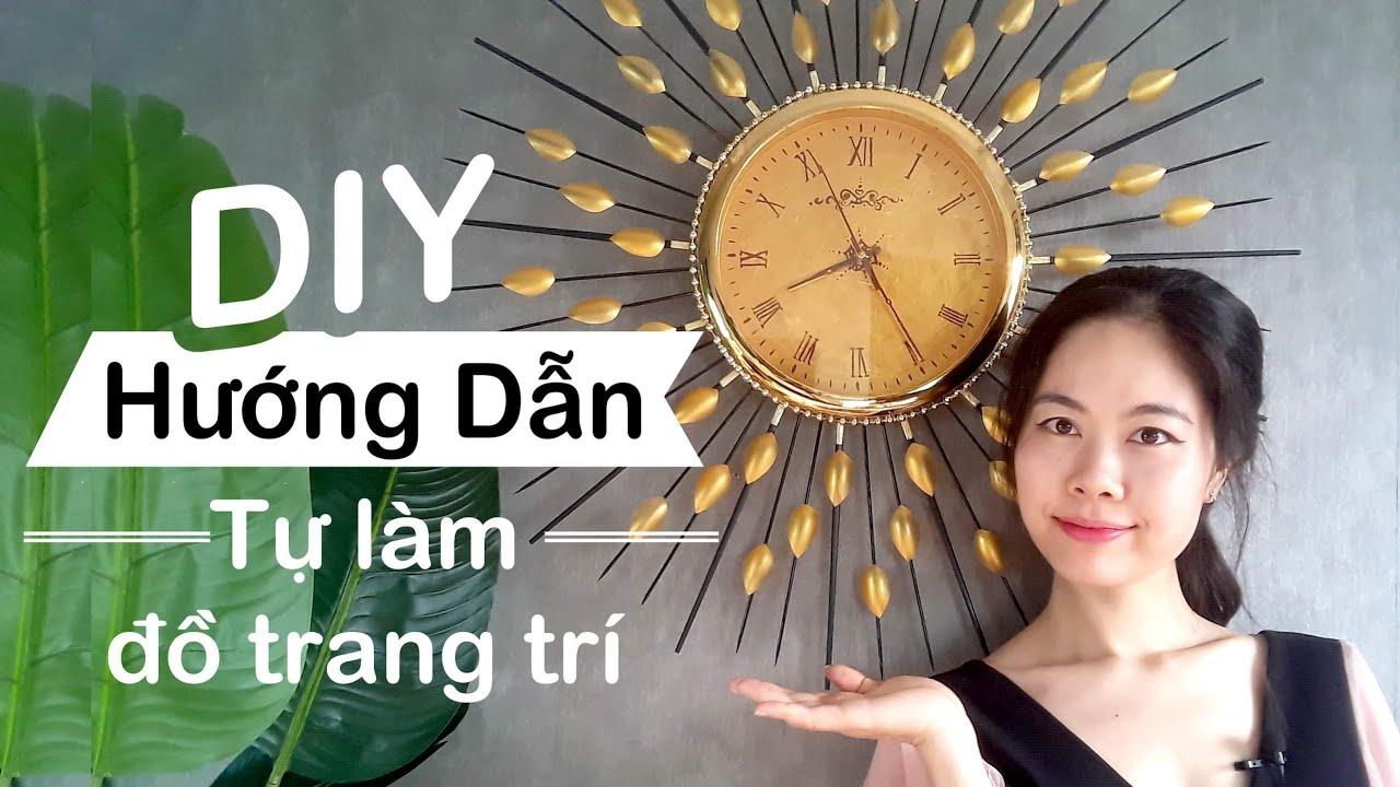 DIY | Decoration ideas | Handmade| Hướng dẫn trang trí đồng hồ | Hong Pham Channel