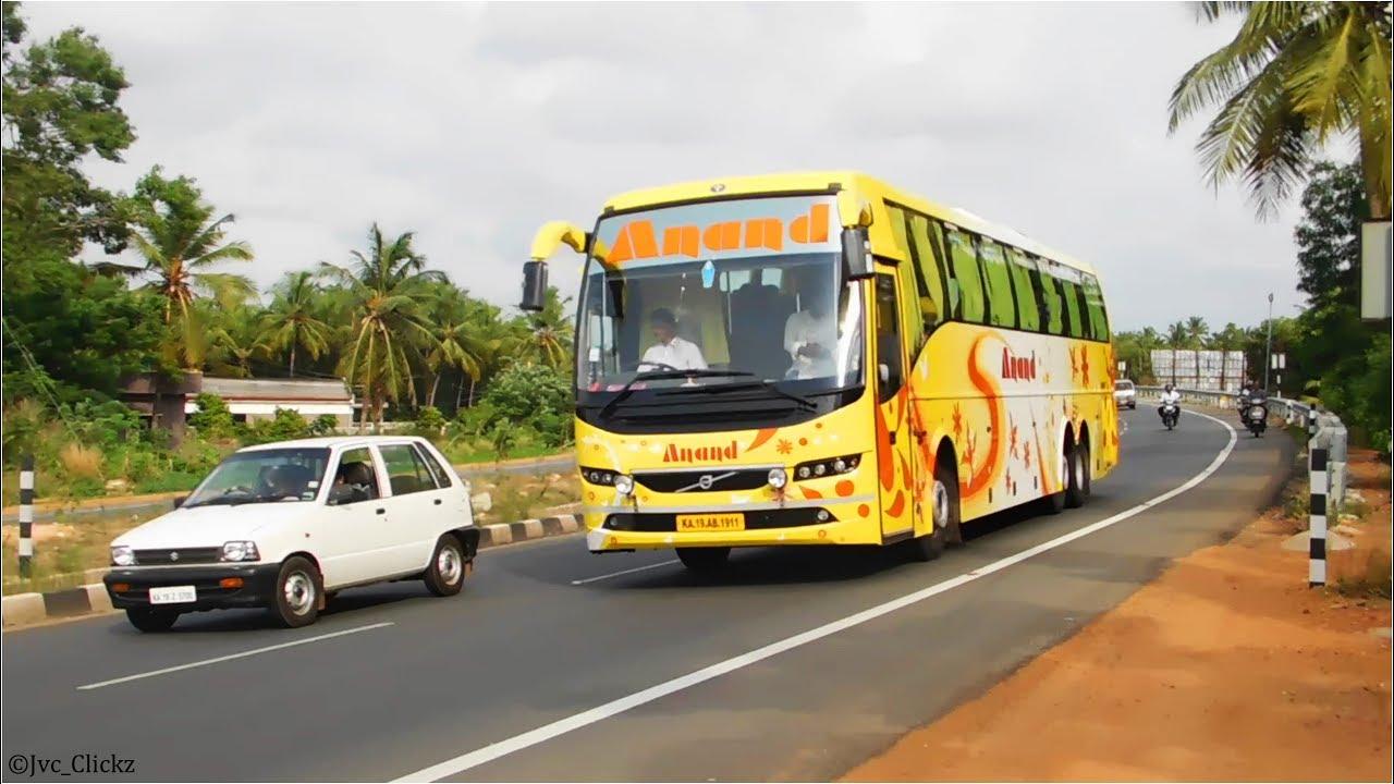 Volvo buses passing through the long C curve in Karnataka!