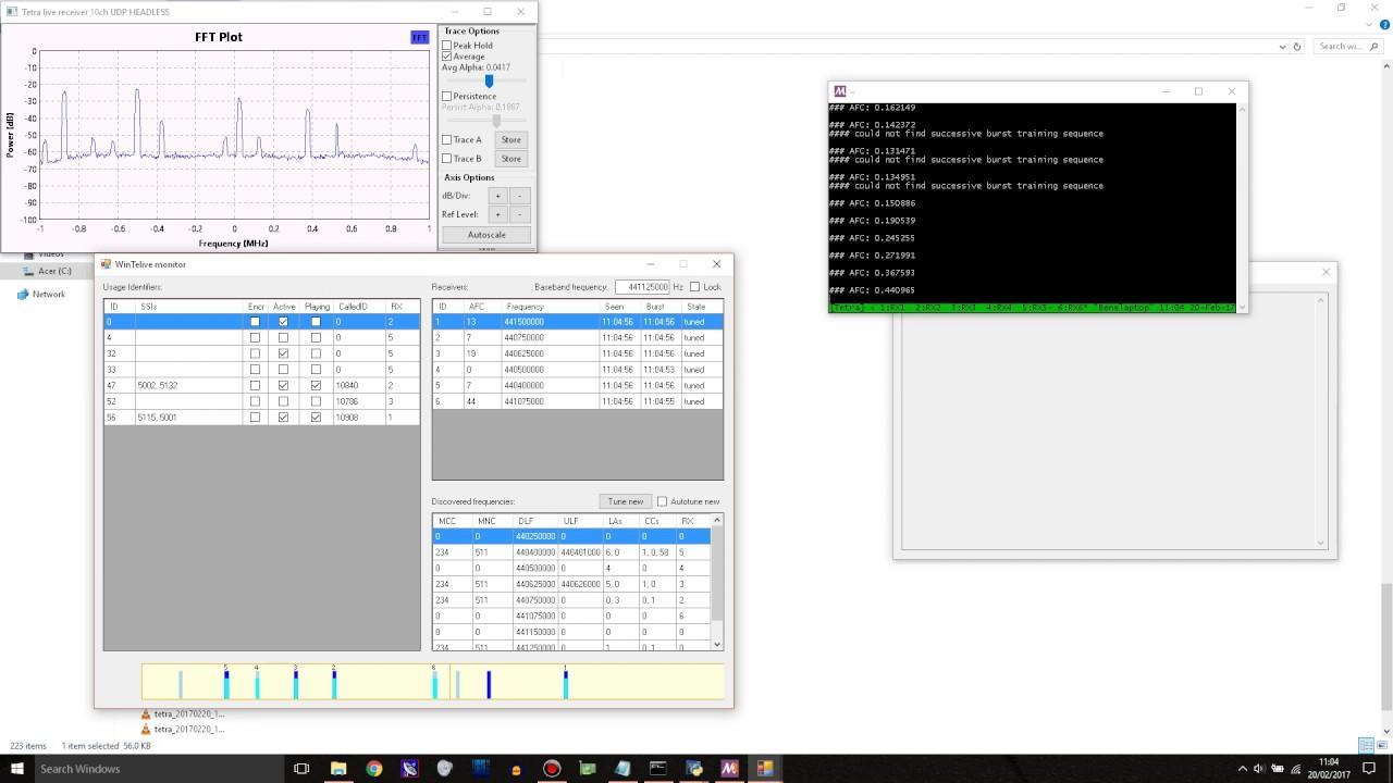 TETRA decoding on Windows!