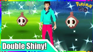 DOUBLE SHINY DUSKULL + SHINY DUSCLOPS EVOLUTION in Pokemon Go!