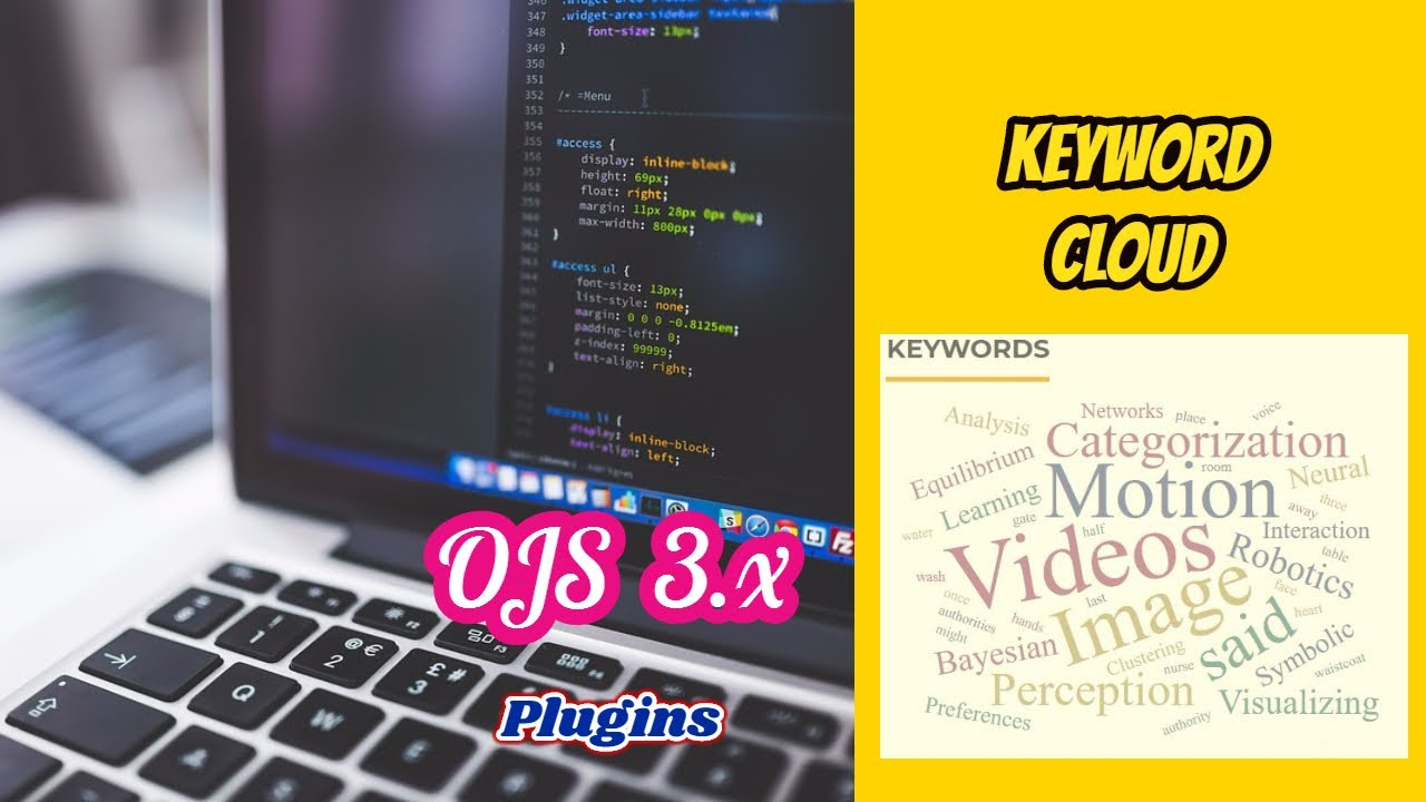 Tutorial How to Add keyword Cloud to OJS 3 1 using plugin gallery and ftp