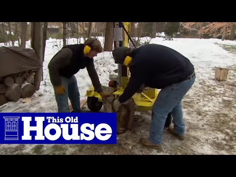 How to Split Logs for Firewood - This Old House