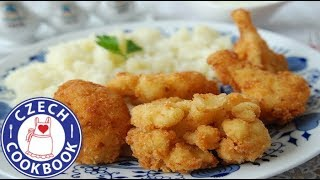 Breaded Fried Cauliflower Recipe Plus Bonus - Smažený květák a placek - Czech Cookbook