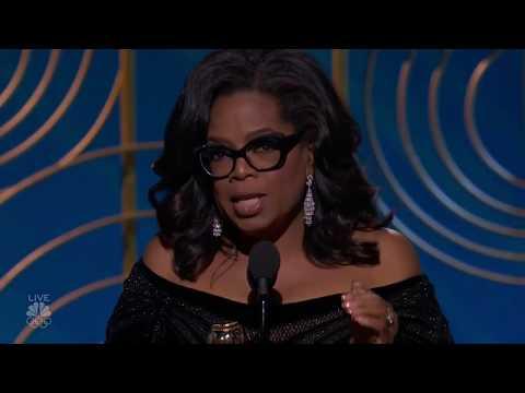 Oprah Winfrey accepting the  Cecil B. DeMille Award and Powerful Speech. Golden Globes