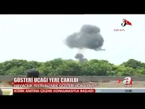 Adana'da gösteri uçağı düştü  AHaber - - Türkiye - 20 Mayıs 2013
