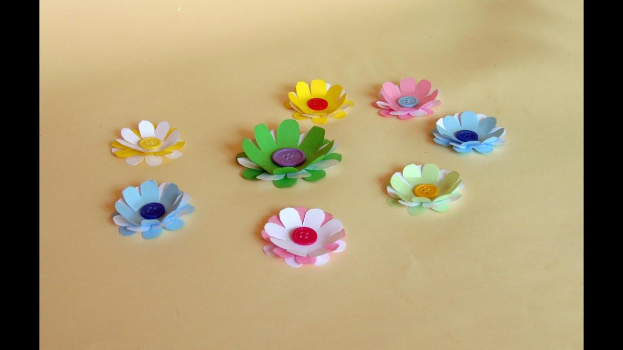 Como hacer flores de papel paso a paso youtube - Como se hacen flores de papel ...
