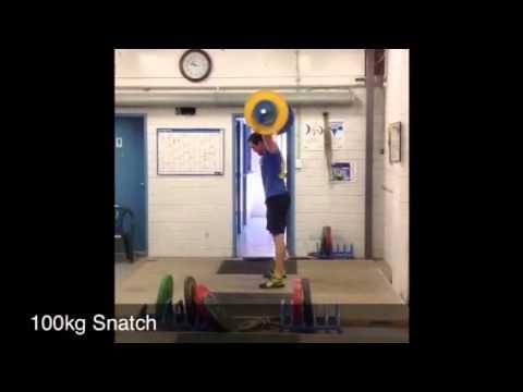 CrossFit Athletic- Paul Walton- 100kg Snatch
