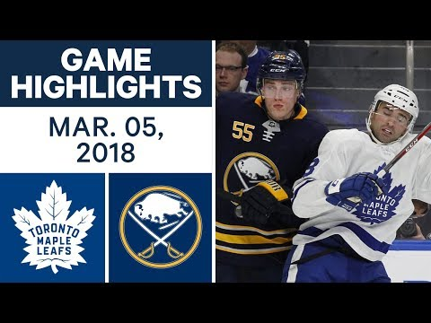 NHL Game Highlights   Maple Leafs vs. Capitals - Mar. 05, 2018