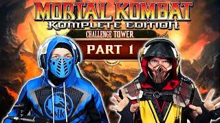 Scorpion and Sub-Zero Play MORTAL KOMBAT 9 Challenge Tower! [Part 1]   MK11 PARODY!