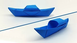 How to make a Paper Boat easy for Kids - Origami Boat making Tutorial