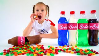 Ksysha and Chocolate & Soda Challenge for Mom