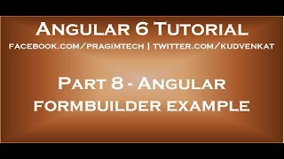Angular formbuilder example
