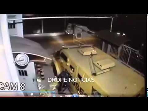Câmera de segurança flagra ação de bandidos durante roubo a carro forte