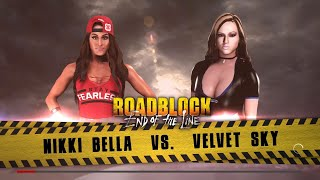 WWE 2K18 - Nikki Bella VS Velvet Sky