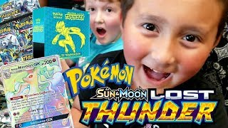 THE BEST POKEMON LAUNCH PARTY!! NEW LOST THUNDER SET! FEATURING AARONS WISH FROM THE DREAM FACTORY!