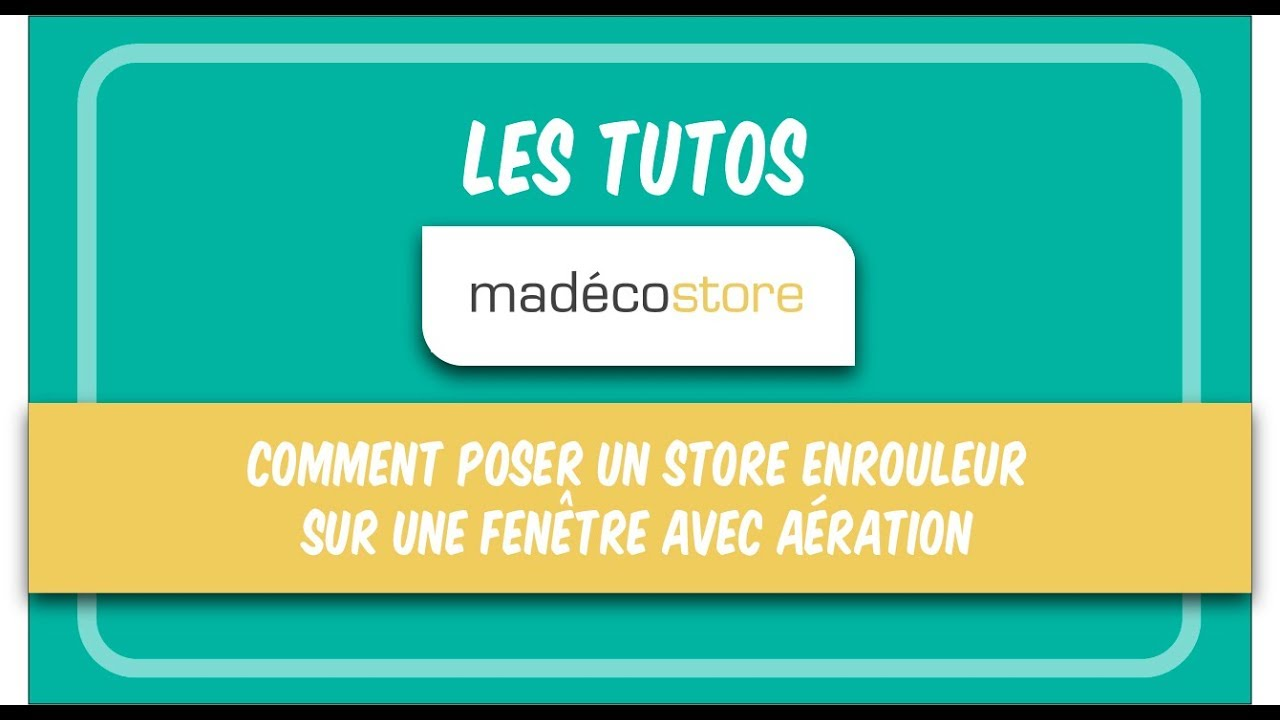 comment poser un store enrouleur sur fen tre avec a ration pose store sans per age youtube. Black Bedroom Furniture Sets. Home Design Ideas