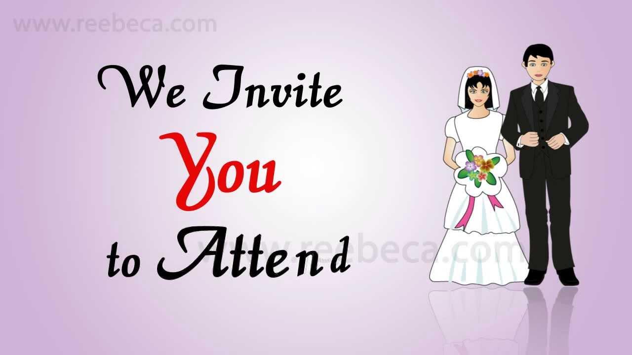 Video Wedding Invitation Idea - Being Married Theme - WhatsApp ...