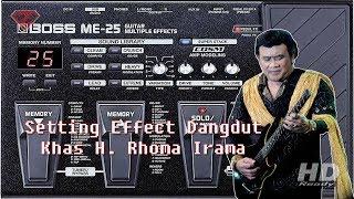 Cara setting Efek Untuk Dangdut khas H Rhoma Irama || BOSS ME25
