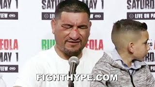 """CHRIS ARREOLA EMOTIONAL IMMEDIATE REACTION AFTER LOSS TO ANDY RUIZ: """"BULL-FKN-SH*T...DON'T RAPE ME"""""""
