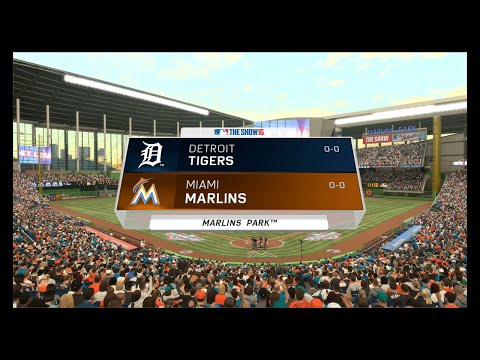MLB The Show 16  - Detroit Tigers vs Miami Marlins (FULL GAME)