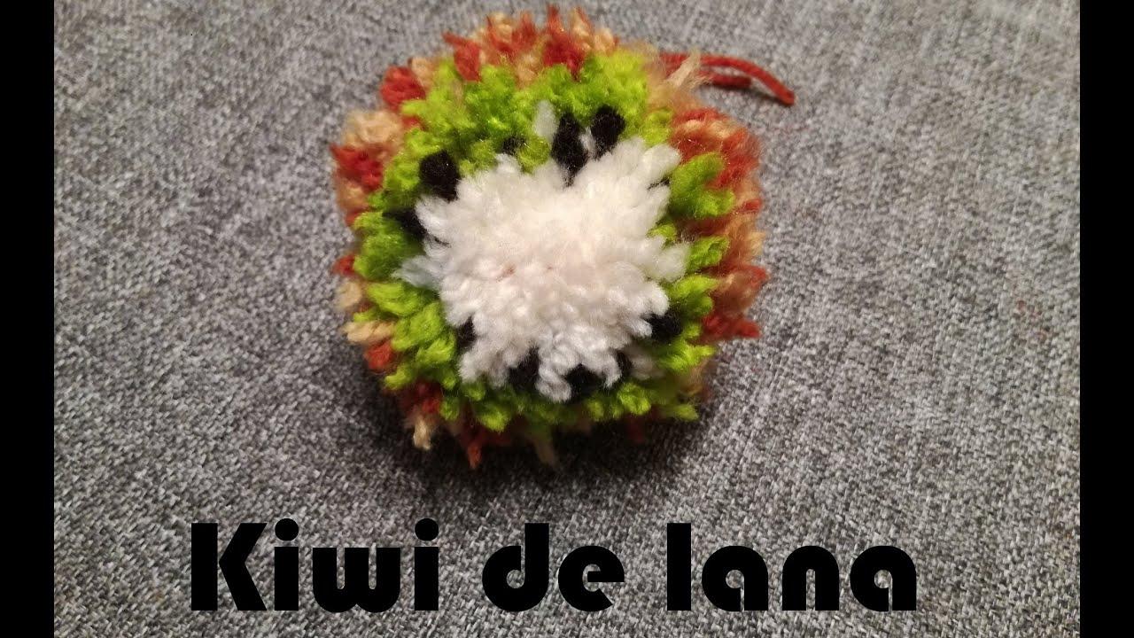 Pompón en forma de Kiwi