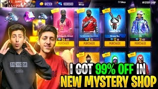 I Got 90% Off In Mystery Shop😍 Wasting 10,000 Diamond Of My Brother 😂 - Garena Free Fire