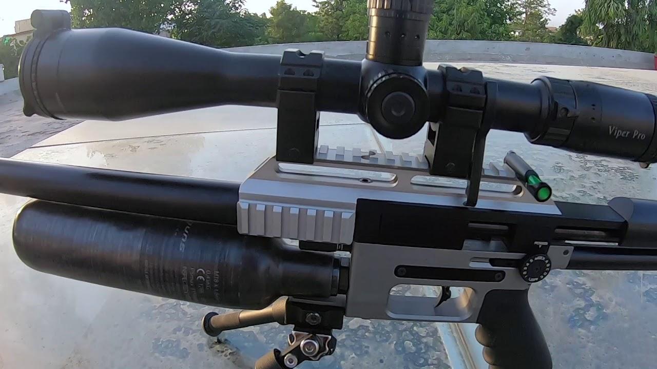 FX Impact  22 with STX 600mm Barrel shooting 18 13 grain JSBs @ 1050 fps