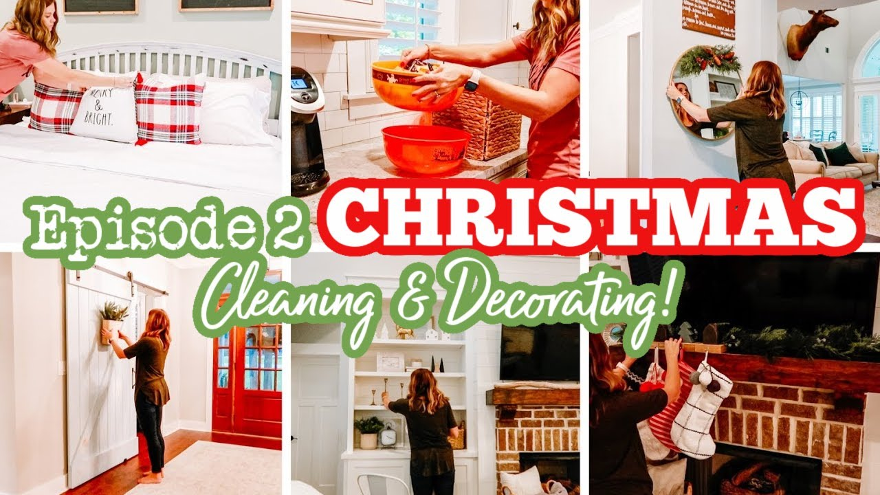 JOLLY CLEAN WITH ME Episode 2 | EXTREME CLEANING MOTIVATION CHRISTMAS CLEAN & DECORATE | Amy Darley