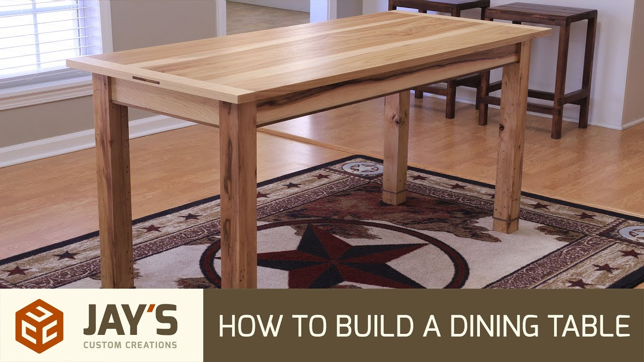 How To Build A Dining Table  242  Youtube
