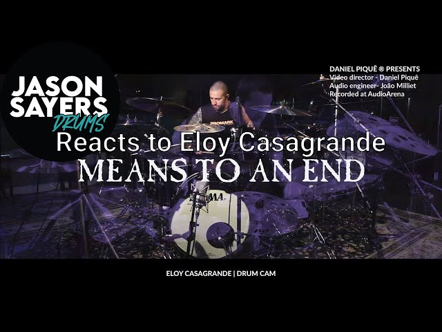 Drummer Reacts to Eloy Casagrande - Means To An End (Sepultura) Drum Playthrough