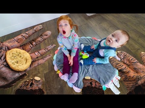 Did Bigfoot Eat my cookie? Adley and Baby Brother find HIDDEN PRESENTS!!