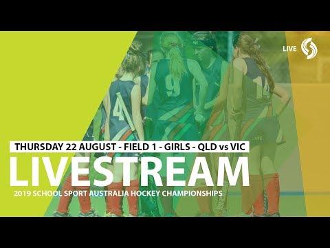 🔴 2019 SSA 12 & U Hockey - Thur 22 - Girls - QLD Vs VIC - Field 1 - Game 6