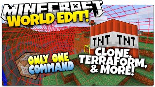Minecraft | WORLD EDIT | Clone, ANTI-TNT, & More! | Only One Command (One Command Creation)